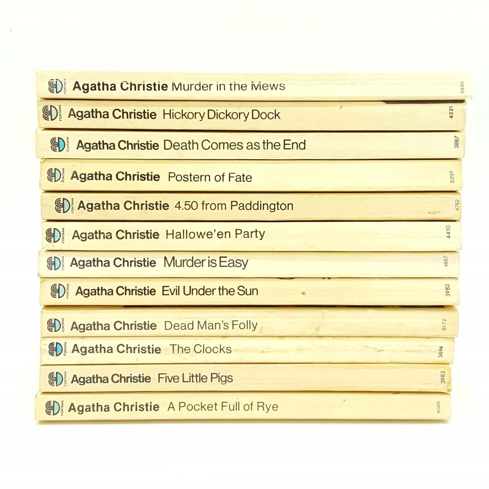 Twelve Book Agatha Christie Collection Country House Library