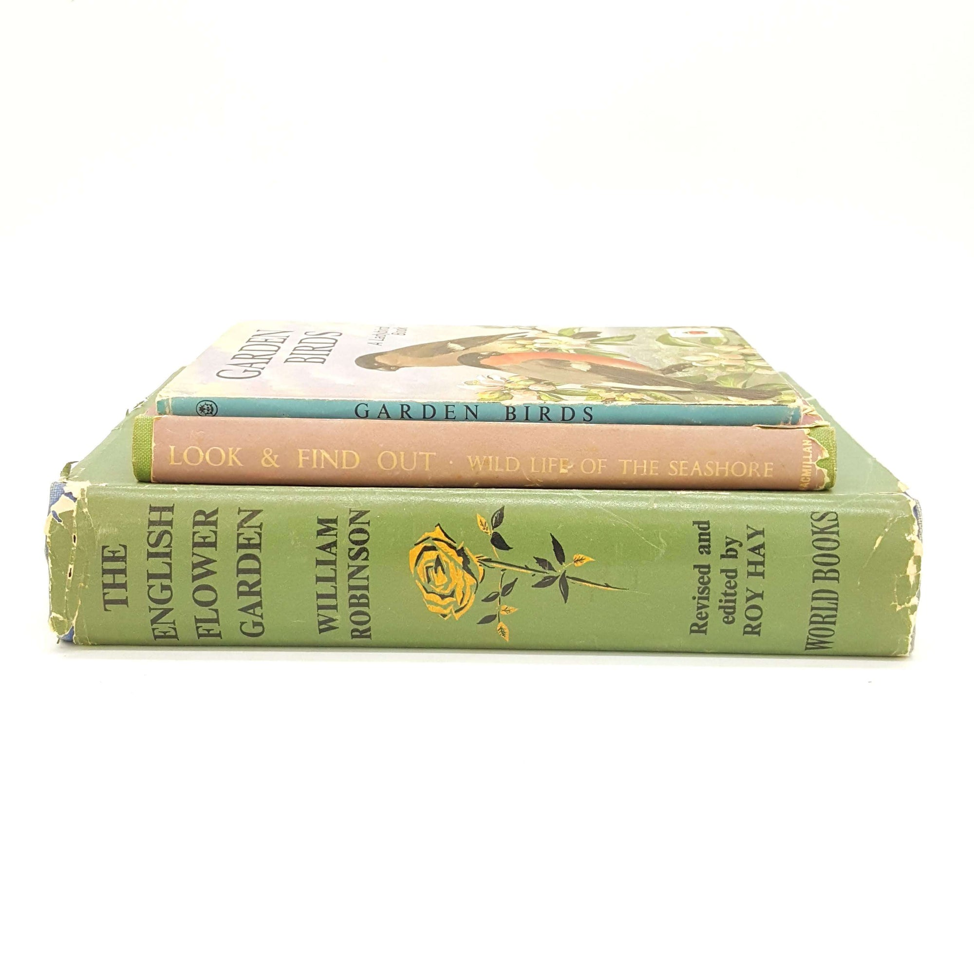 Three Book Nature Collection Country House Library