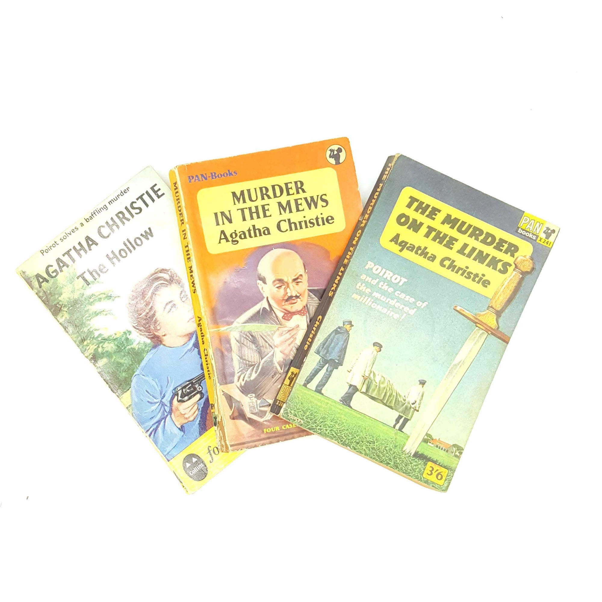 Agatha Christie Three Book Collection 1960 Country House Library