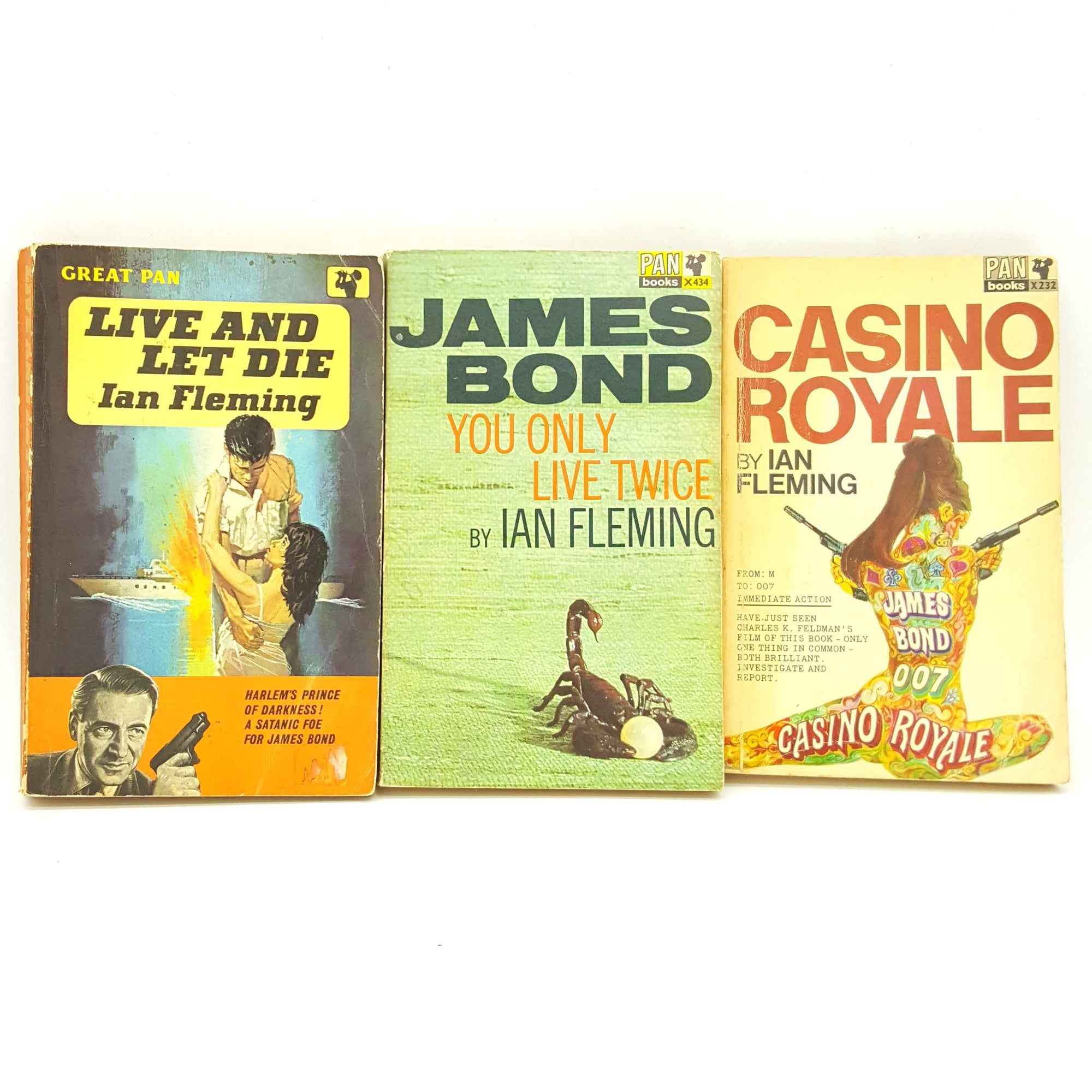 James Bond 007: Three Book Colour Collection - Ian Fleming Country House Library