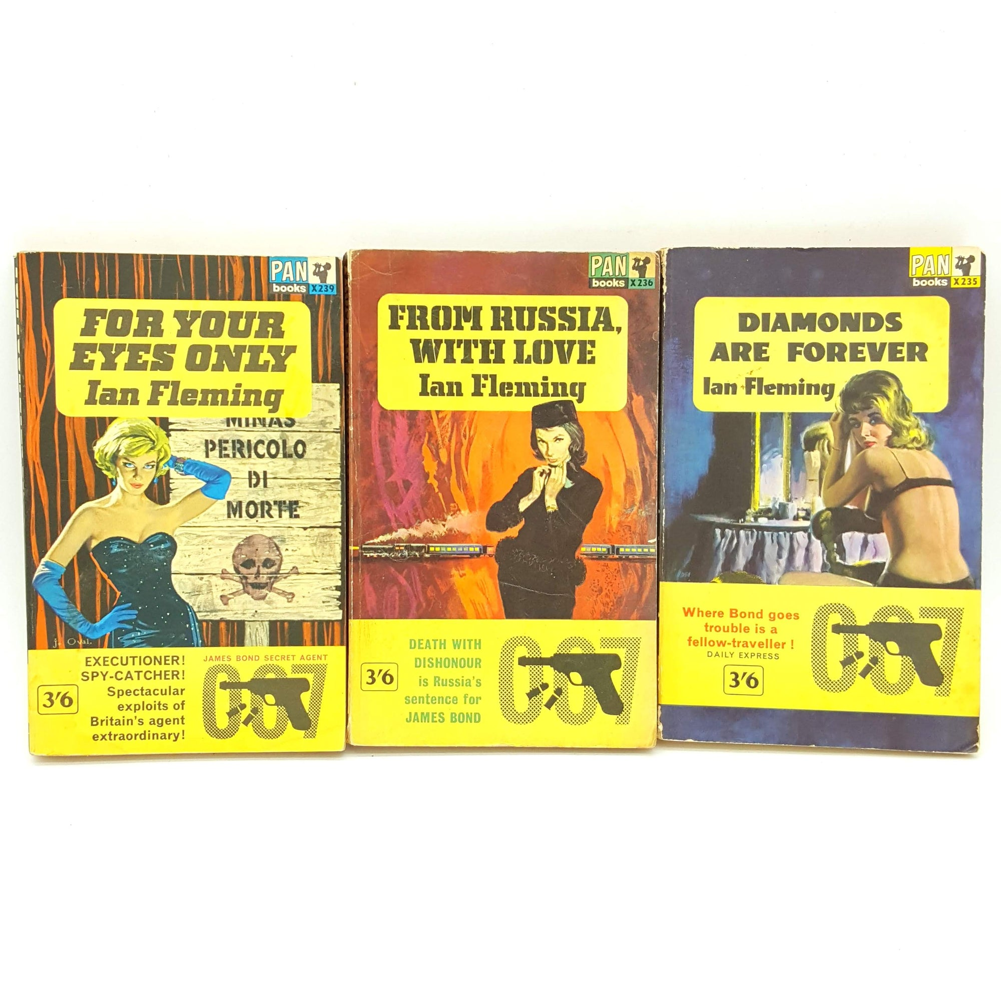 James Bond 007: Three Book Collection - Pan Books Ltd 1963 Country House Library