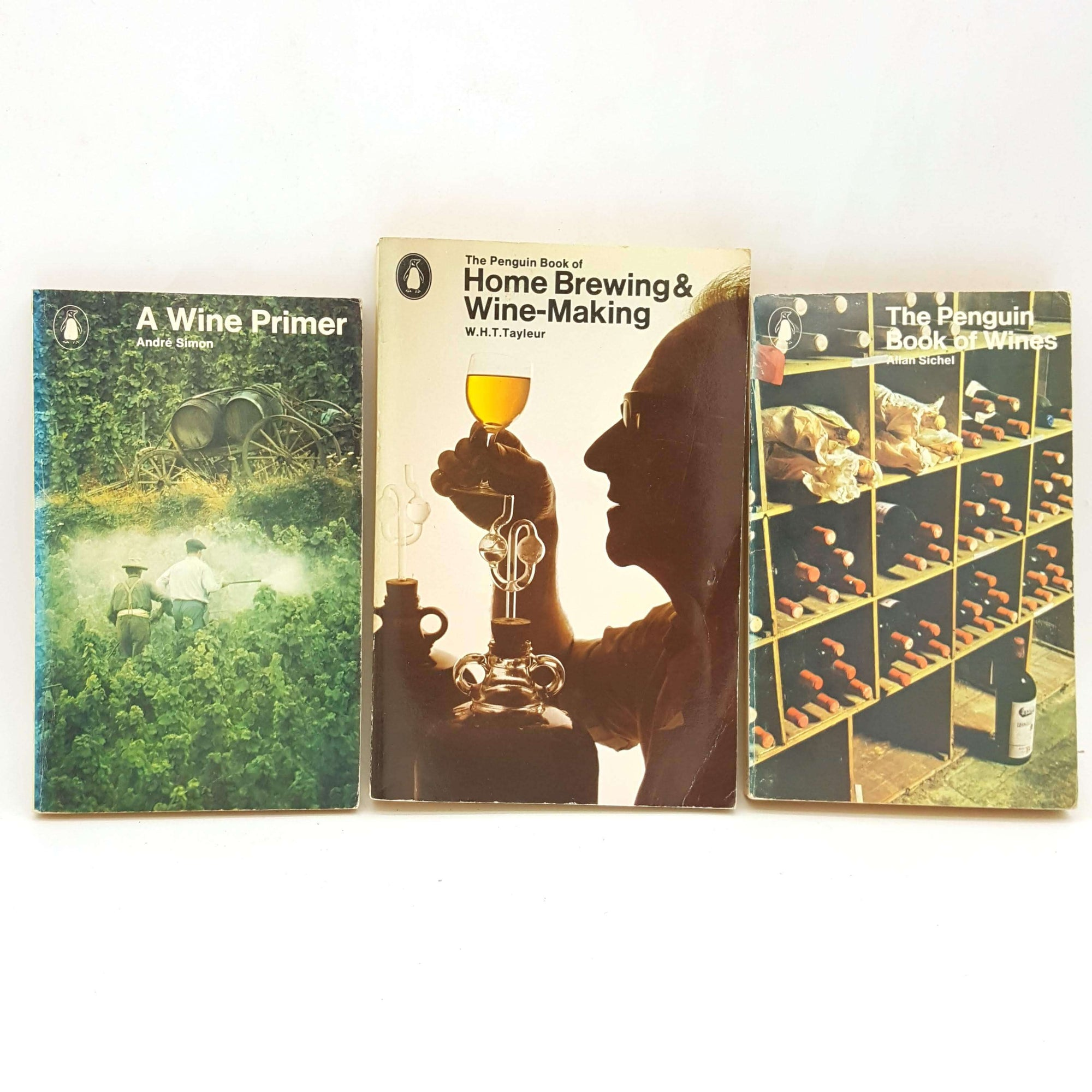 Three Penguin Wine Book Collection Country House Library