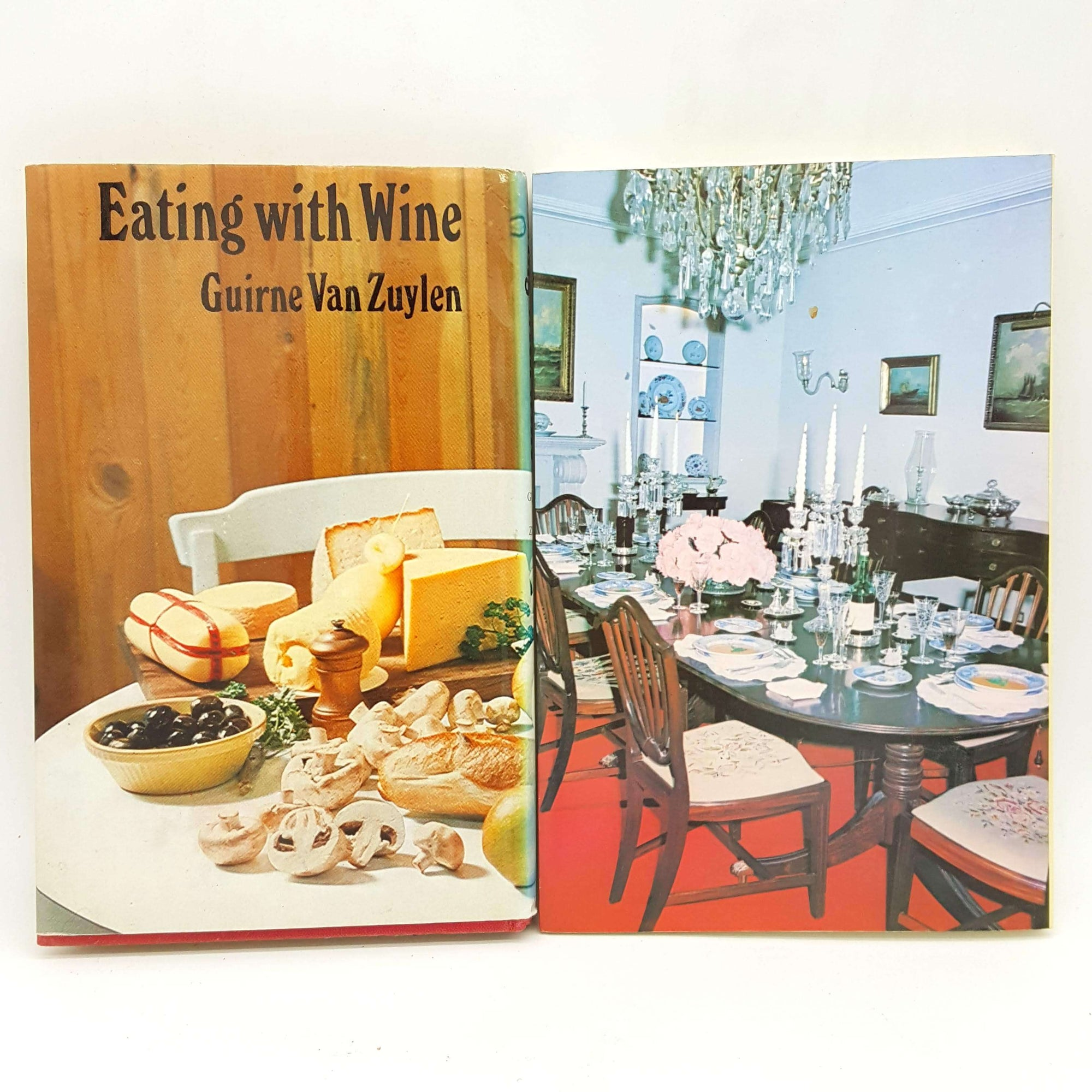 Two Book Wine Collection - Eating with Wine and Madeira Wine At Home Country House Library
