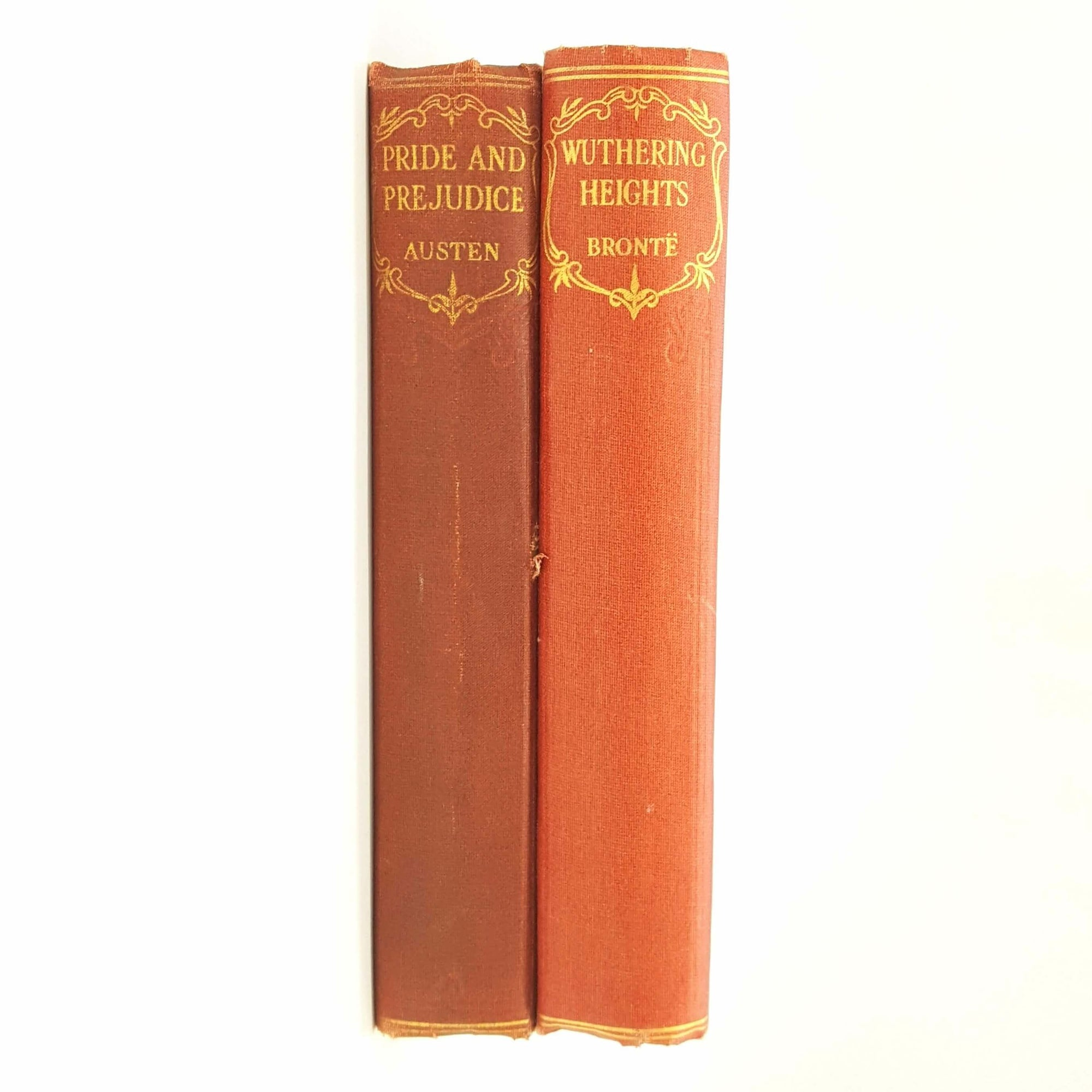 Classic Female Author Collection - Wuthering Heights and Pride and Prejudice 1930 Country House Library