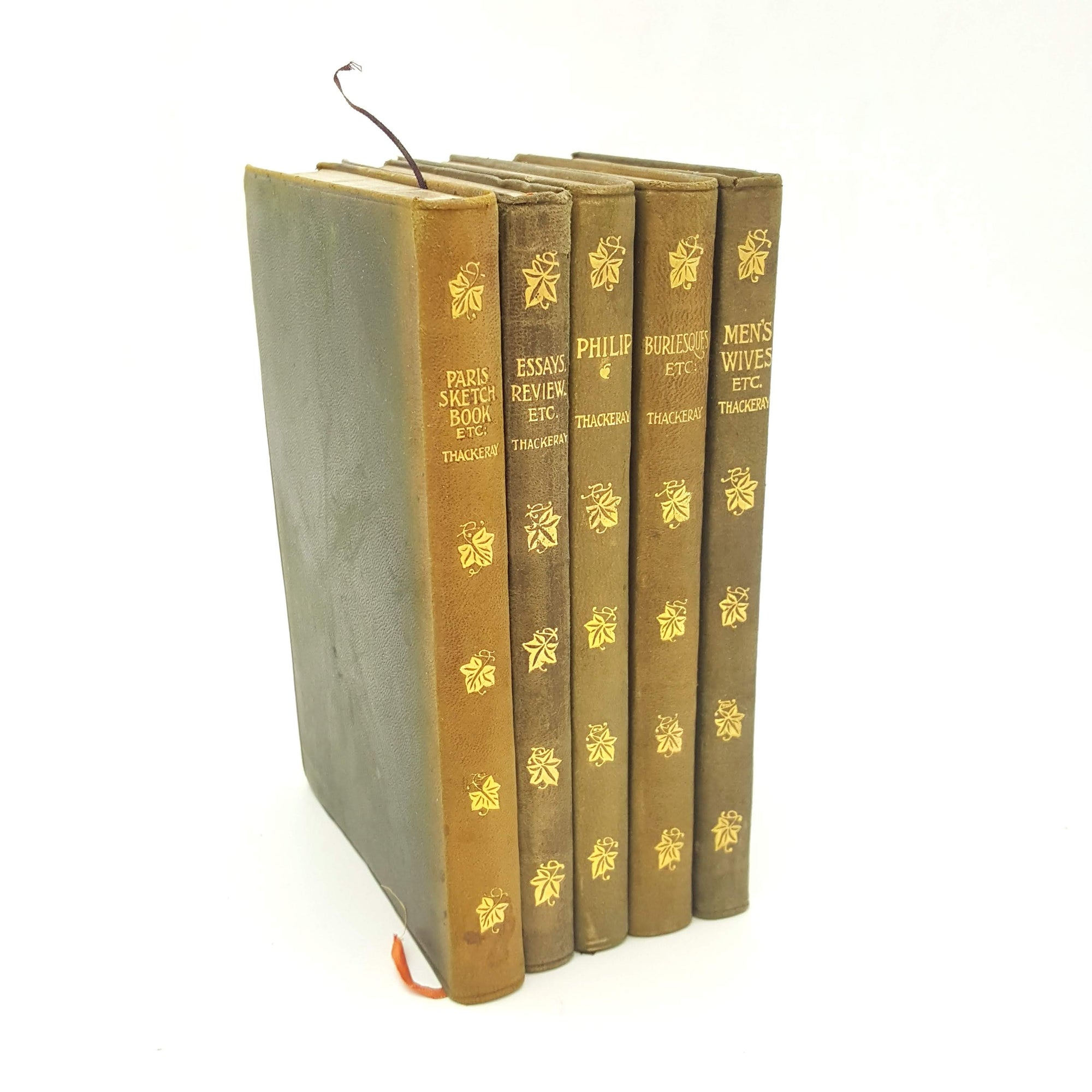 W. M. Thackeray Five Volume Collection Country House Library