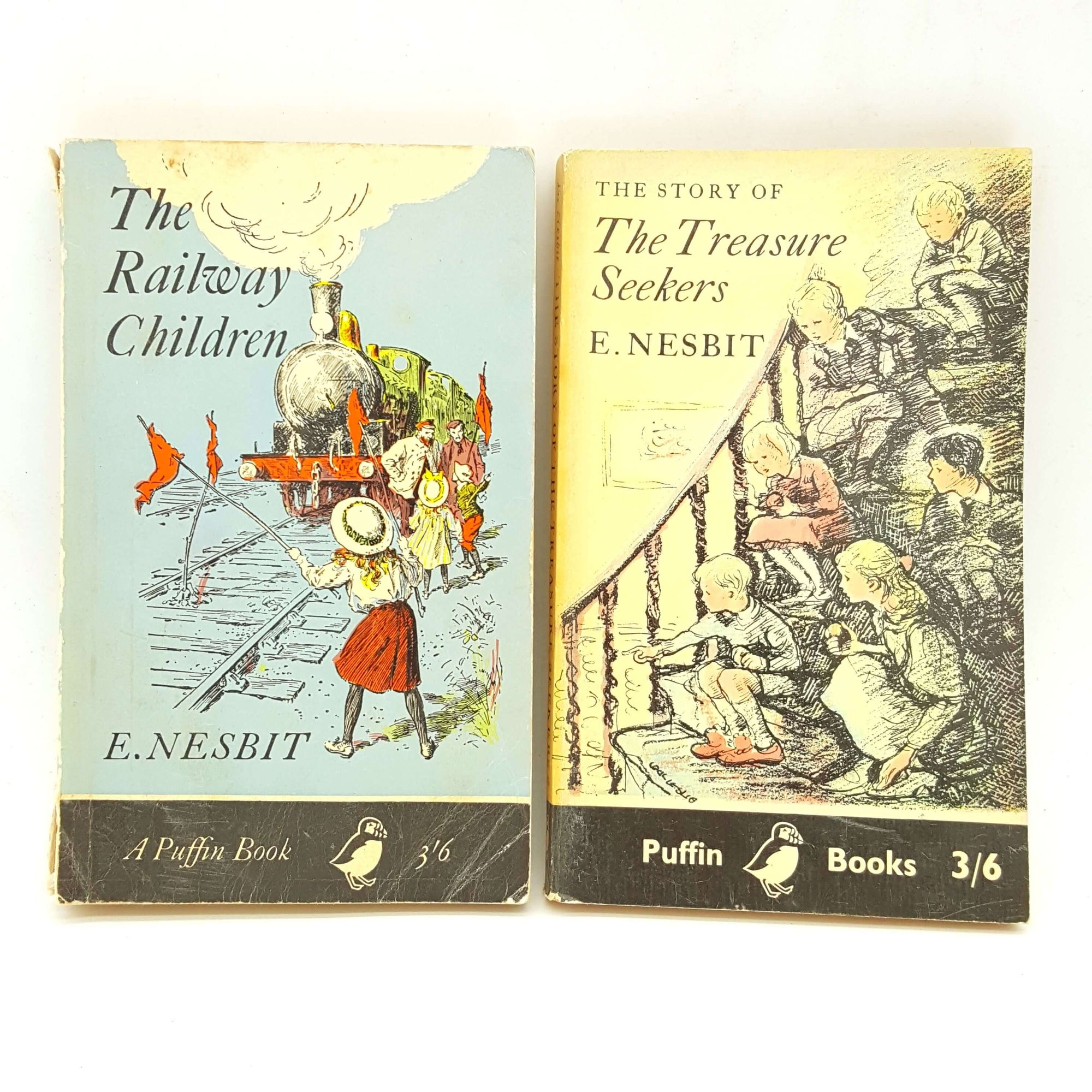 E.Nesbit The Railway Children and The Treasure Seekers 1963 - Puffin Books Country House Library