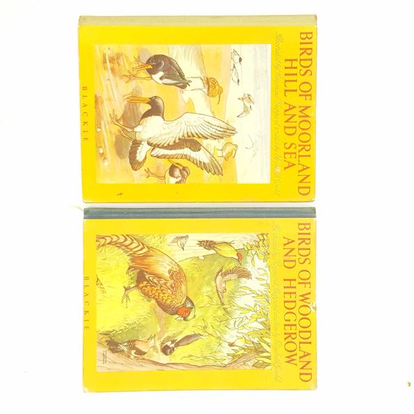 Birds of Woodland and Hedgerow and Moorland Hill and Sea c.1947 Country House Library