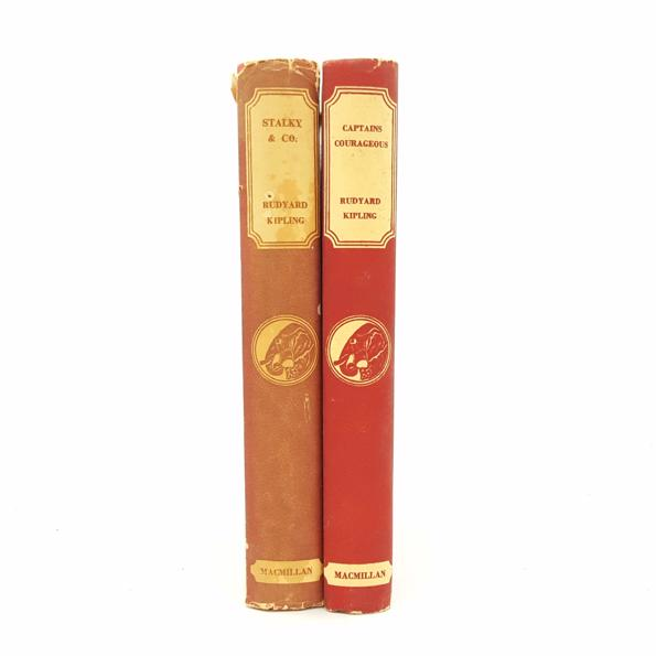 Rudyard Kipling Set - Stalky & Co and Captains Courageous c. 1950 Country House Library