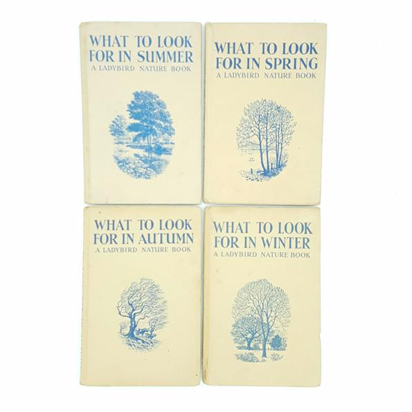 What To Look For Through The Seasons c.1960 Country House Library