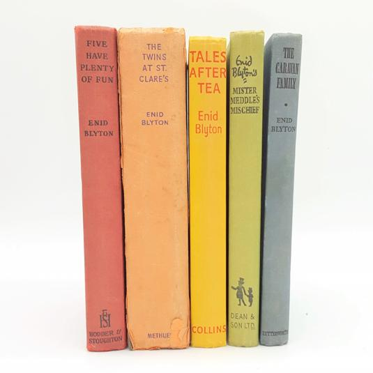 Enid Blyton Rainbow Five Book Collection c.1950 Country House Library