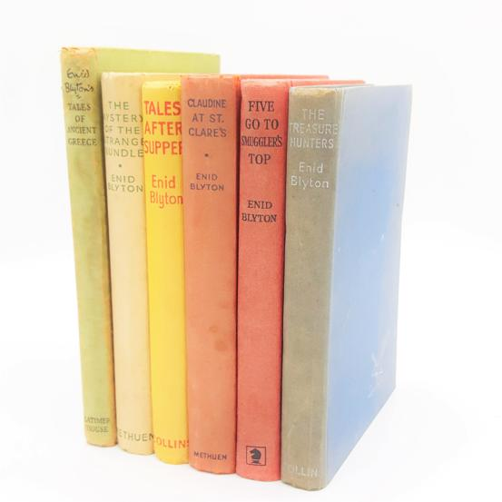 Enid Blyton Rainbow Six Book Collection c.1950 Country House Library