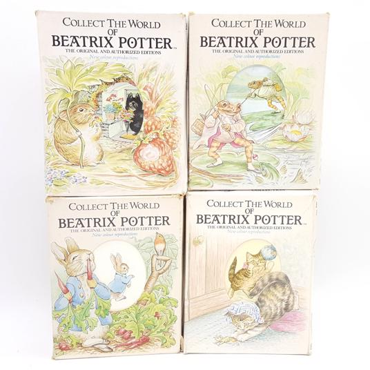 Collect The World of Beatrix Potter - Peter Rabbit, Miss Moppet, Johnny Town Mouse, Jeremy Fisher Country House Library