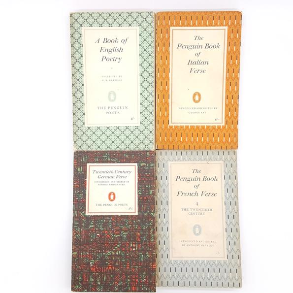 Patterned European Poetry Collection 1950 - 70 Country House Library