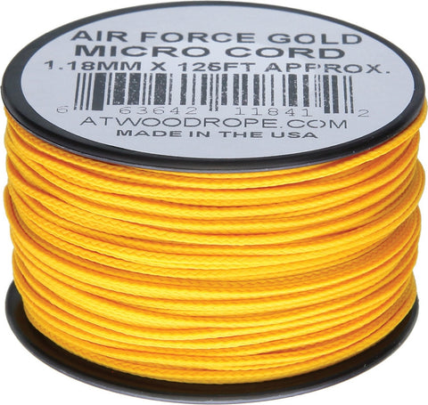 Atwood Micro Cord 125ft Air Force Gold