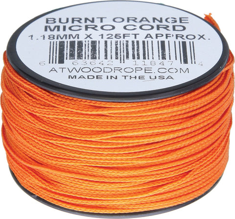 Atwood Micro Cord 125ft Burnt Orange