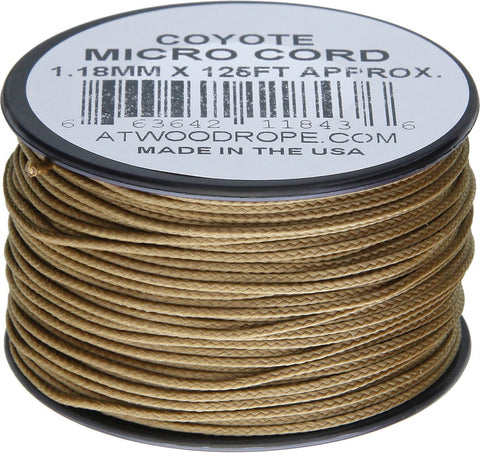 Atwood Micro Cord 125ft Coyote
