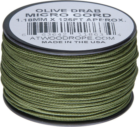 Atwood Micro Cord 125ft Olive Drab
