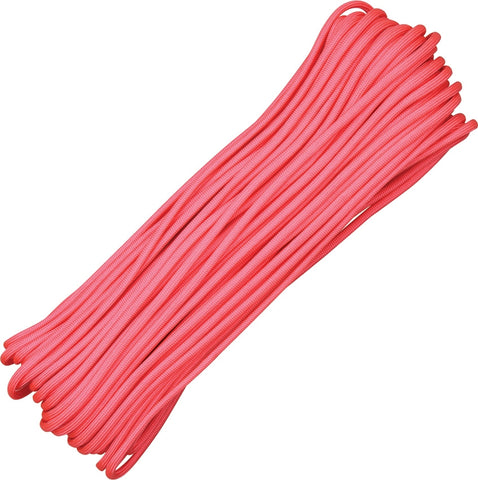 Atwood 550 Parachute Cord Pink 100 Ft