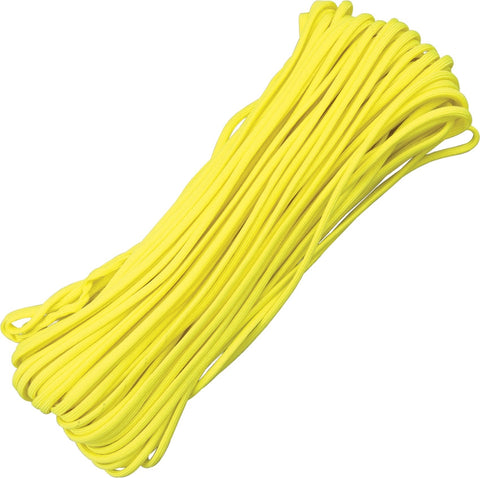Atwood 550 Parachute Cord Yellow 100 ft