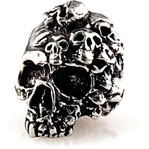 Schmuckatelli Mind Skull Bead Pewter SMUKMP