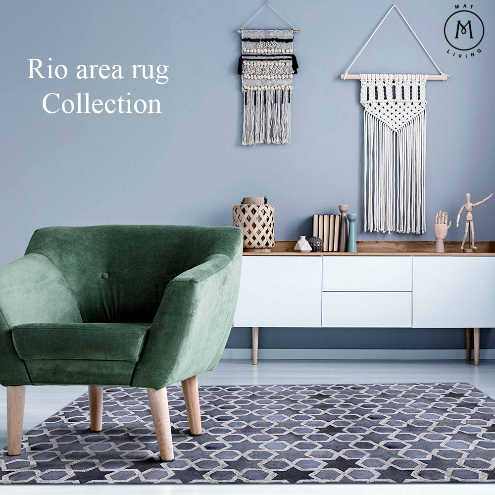 All About Hand Tufted Leather Area Rugs - Explore MAT Living RIO Rug Collection