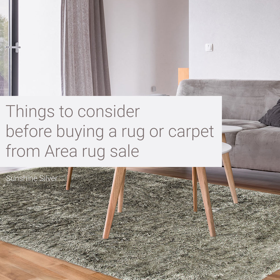 Tips For Buying An Area Rug on Sale