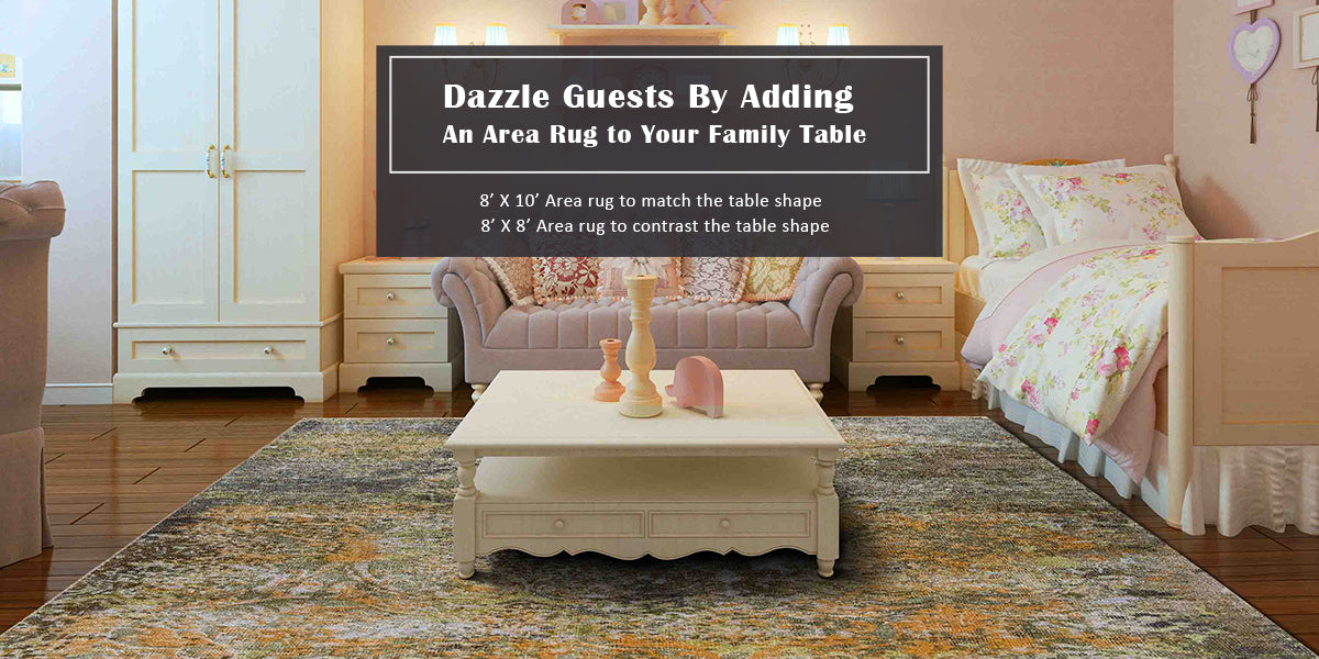Rug Sizes For Family Table?