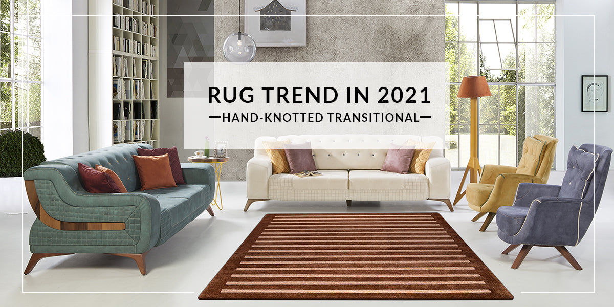 Hand-Knotted Striated Pico Chicago Brown Carpet