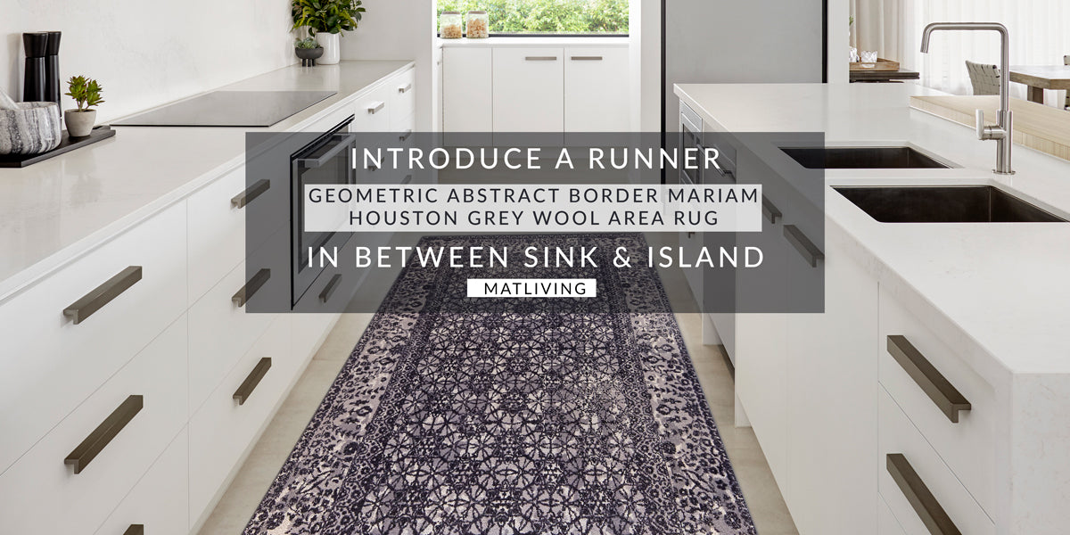 Introduce A Runner in Between Sink & Island, Carpet color trends 2021, are shaggy rugs in style 2020, are rug trends 2020, 2021 area rug trends