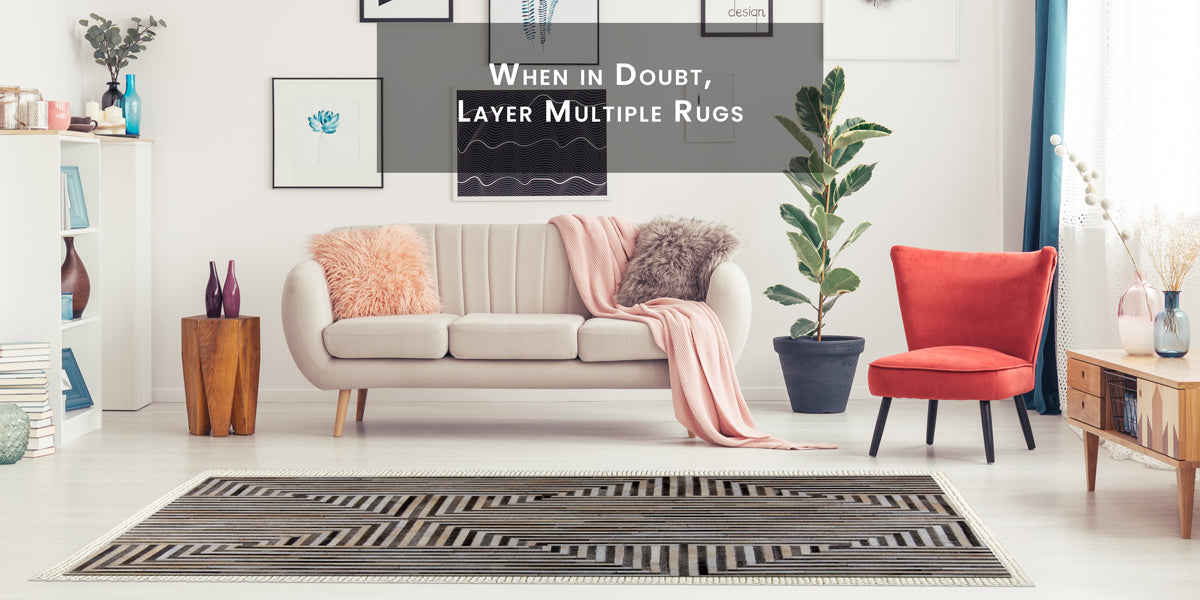 When in doubt, layer multiple rugs, How To Skillfully Combined Multiple Area Rugs In A Beautiful Way