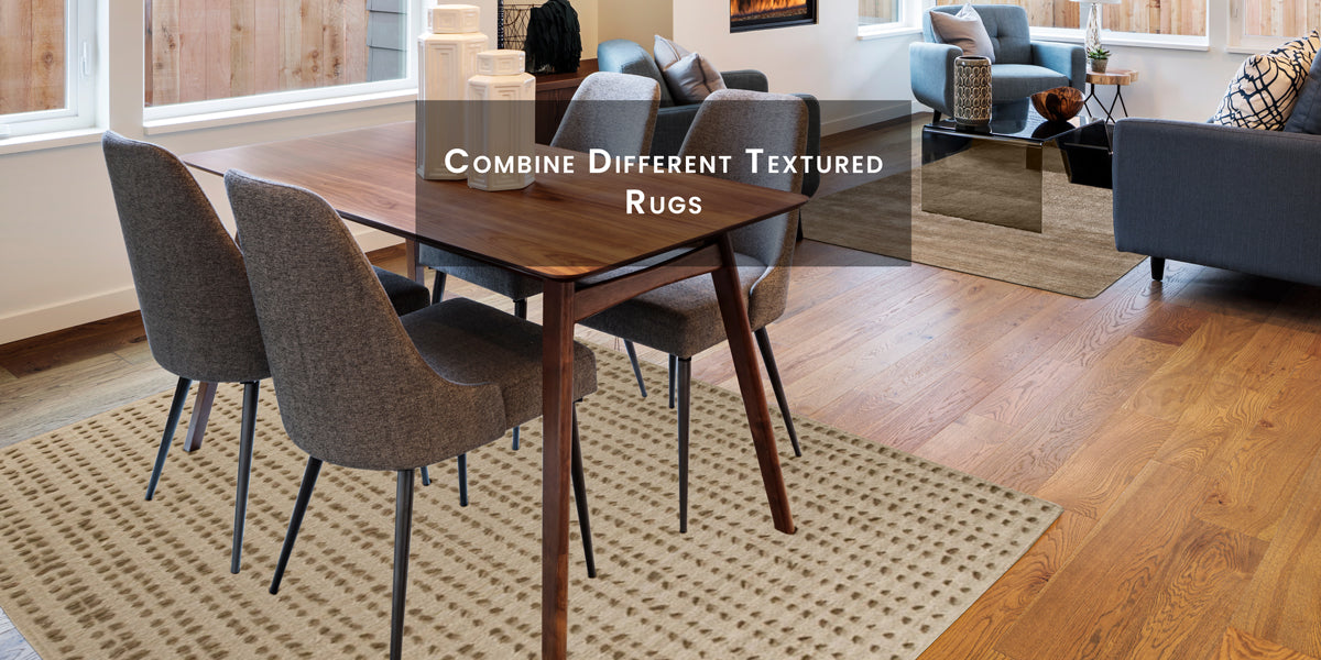 Combine different textured rugs, How To Skillfully Combined Multiple Area Rugs In A Beautiful Way