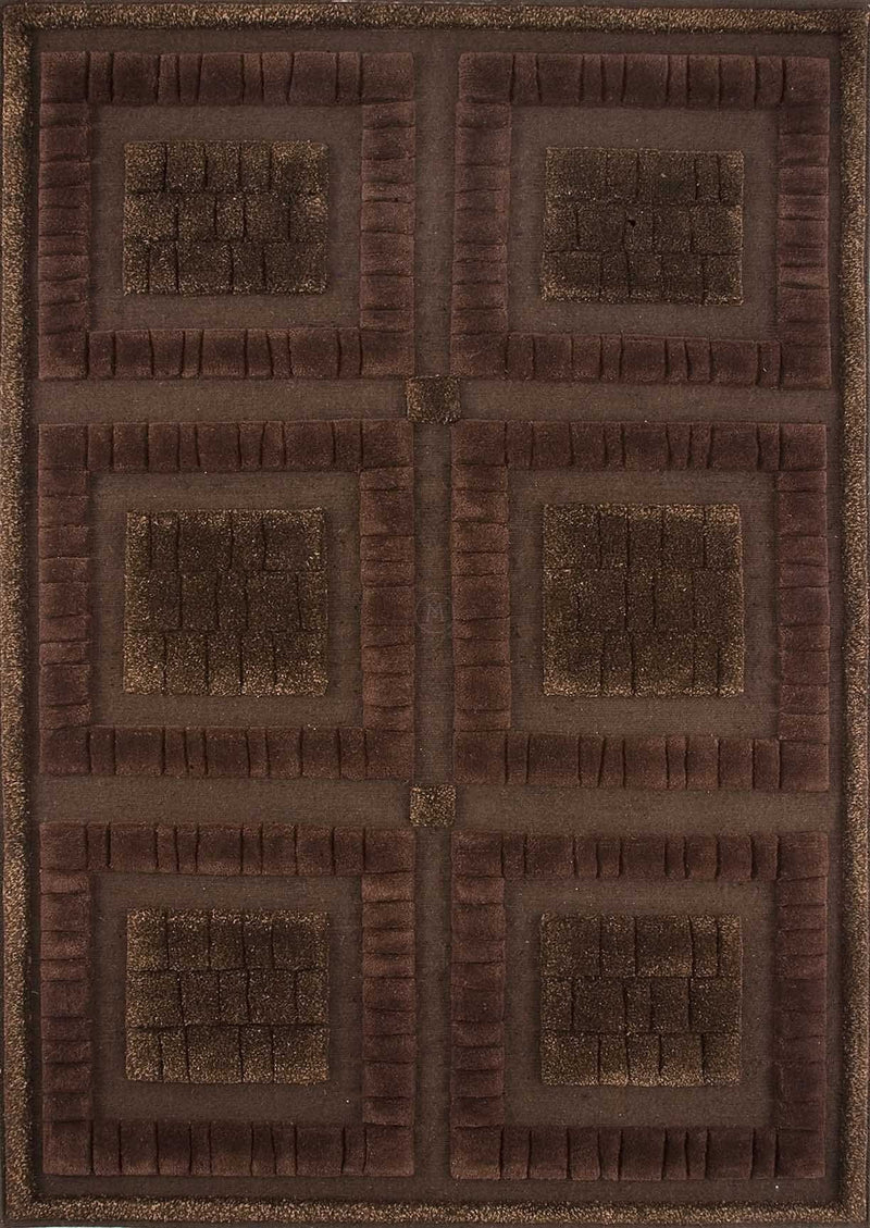 Mat Bergamo Area Rug Chocolate