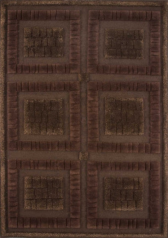 Mat Bergamo Area Rug Chocolate, Rugs USA