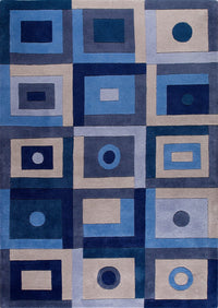 MAT Vinson Berlin Area Rug Blue