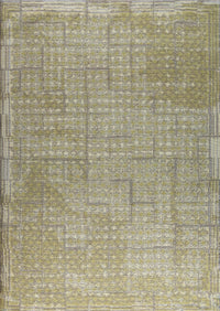 Contemporary Abstract Geometric Border Nile Burbank Beige Wool Area Rug Carpet