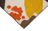 MAT Solana Bloom Area Rug Brown Gold