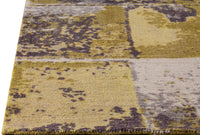 Contemporary Abstract Geometric Nile Cleveland Gold/Grey Wool Area Rug Carpet