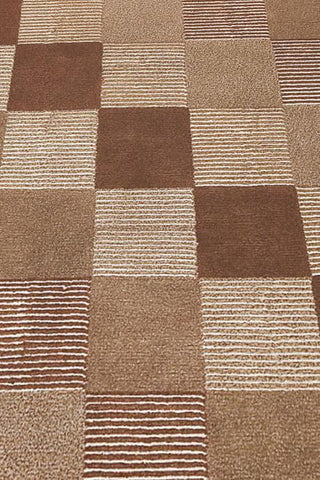 Mat Check Area Rug Brown Sale