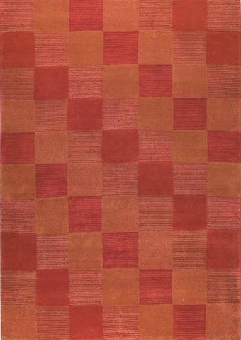 Mat Check Area Rug Orange Sale