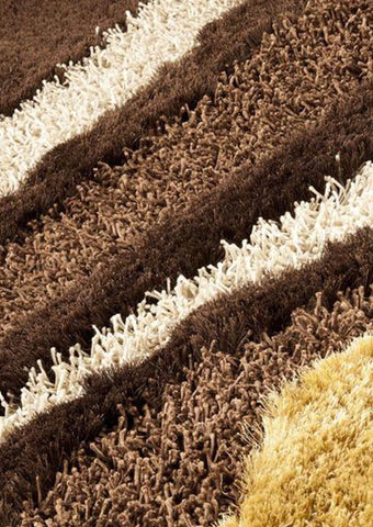 MAT Roca Dunes Area Rug White Brown