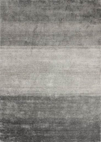 MAT Bamboo Platinum Grid Area Rug Grey