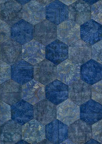 Honey Comb Area Rug Blue Sale, USA – MAT Living - Buy rug online
