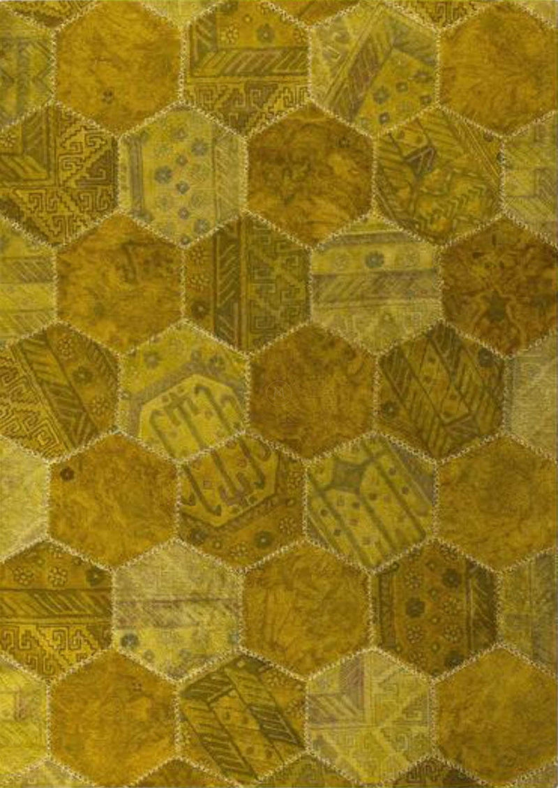 Mat Honey Comb Area Rug Gold Sale
