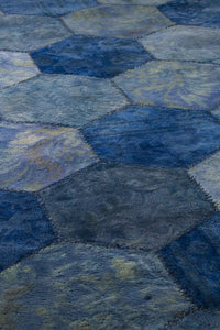 Honey Comb Area Rug Blue Sale, USA – MAT Living  - handmade carpets online