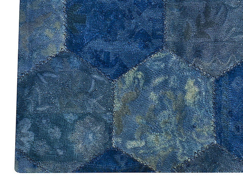 MAT Honey Comb Area Rug Blue Sale