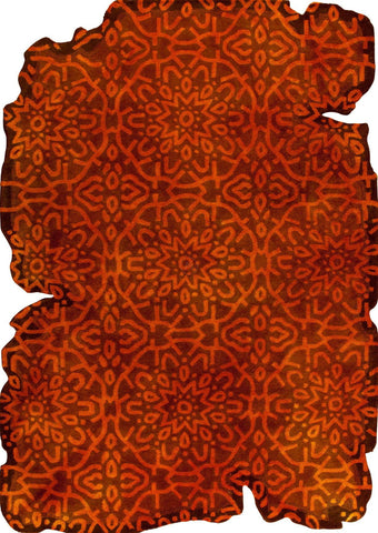 Vintage Luxury Contemporary Burnout Abstract Tufted Jalwa 3 Orange Area Rug Carpet