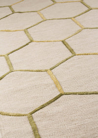 MAT Kea Khema2 Area Rug Green Gold