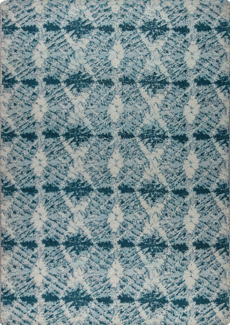 Contemporary Abstract Nile Lakeland Green Wool Area Rug Carpet