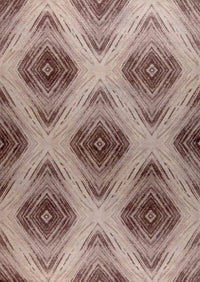 Contemporary Abstract Nile Lansing Brown Wool Area Rug Carpet