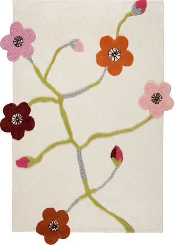 MAT Blanc Messina Area Rug White Multi